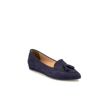 Navy Blue Women's Loafer Shoes 92.314097SZ