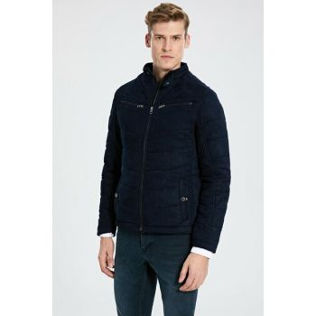 Men's Navy Blue Coats 9W6504Z8