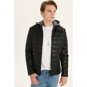 Men's Black Coats 0S1612Z8