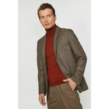 Men's Brown Button Detailed Jacket 0KAM59118NW