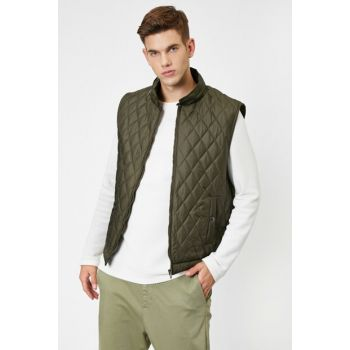 Men's Green Pockets Vest 0KAM34537OW