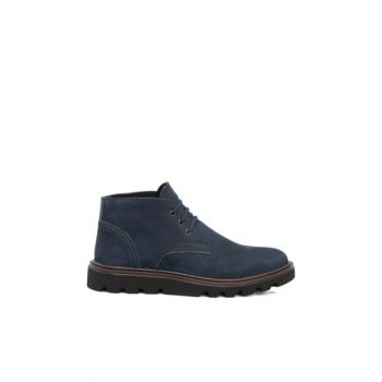 Genuine Leather Navy Blue Men's Boots53976N0T E18K1BT53976