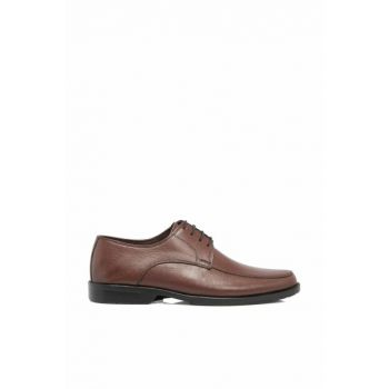 Genuine Leather A.Coffee-Leather Men Classic Shoes E18S1AY54060