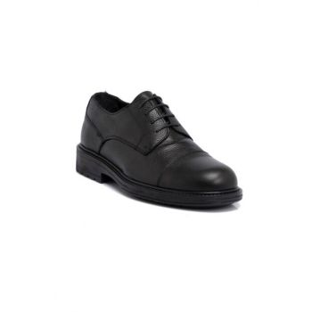 Black Leather Men's Shoes 54593a41 E19S1AY54593