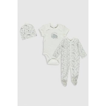Baby Boy White Printed Lu7 Suit 9WH160Z1