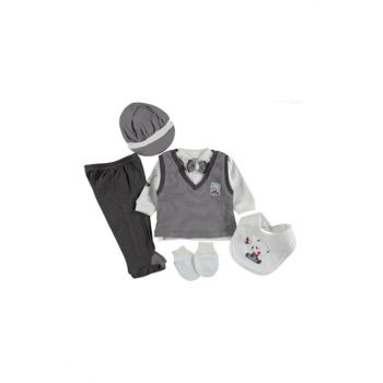 Men's Teddy Bear Patterned 6 Pieces Baby Set 423699