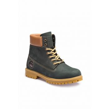 Genuine Leather Navy Blue Men's Boots A3365005