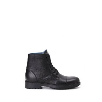 Genuine Leather Black Men Boots 18WFD352810
