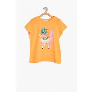 Orange Girl Kid Short Sleeve T-Shirt 8YKG17261OK