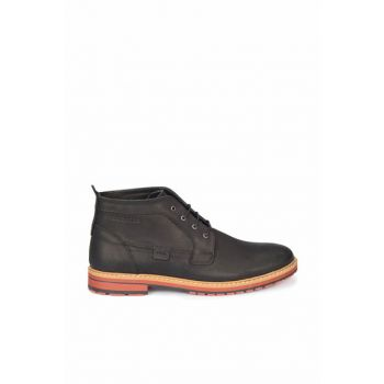 Genuine Leather Black Men's Casual Shoes
