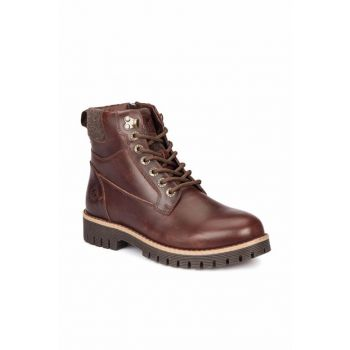 Genuine Leather Brown Men's Boots 000000000100277831