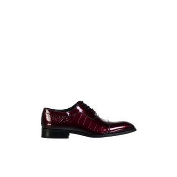 Genuine Leather Dark Burgundy Classic Shoes 120130005578 120130005578