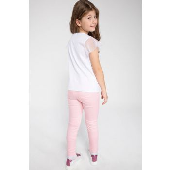 Pink Young Girl Skinny Fit Chino Pants J9857A6.19SP.PN99