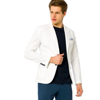 Young Men's White Blazer Jacket 8S3644Z8 8S3644Z8