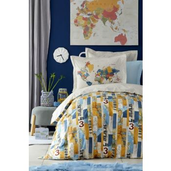 Mag Farte Blue Young Duvet Cover Set 201.13.01.0061