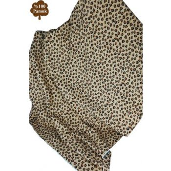 Lady Fashion Home 100% Organic Cotton Baby Blanket Leopard 153-99-000002
