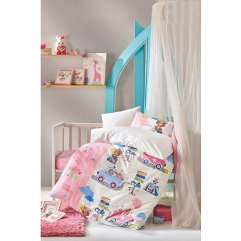 Cotton Box Baby Duvet Cover Set - Cute Travel CTN-BABY-NT-SEVIMLISEYAHATPEMBE
