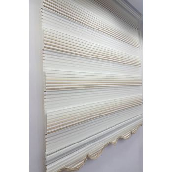 100 x 200 Plyce Color Graduated Roller Blinds Zebra Curtain Coffee-Cream MZ466 8605480613458