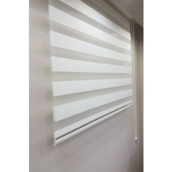 200 x 260 Stor Zebra Curtain White MZ507 8605480569834