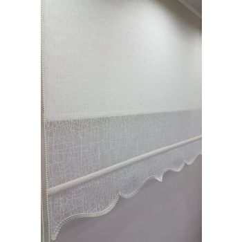 180X260 Double Mechanism Tulle Curtain and Roller Blinds MT1084 8605480850602