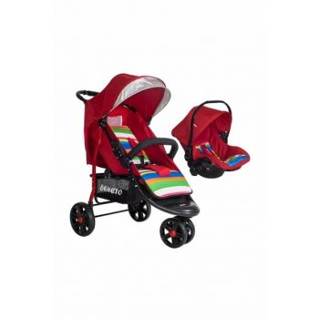Beneto Bt333T Color-Line Jogger Travel Baby Stroller Red / 8681682493384
