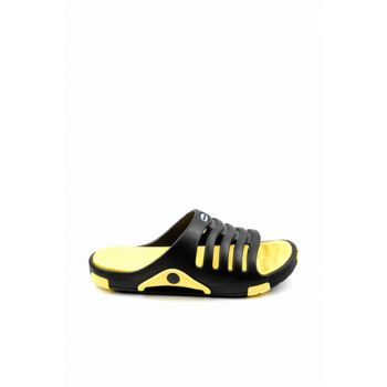 Black Yellow Men's Slippers E606.M.000