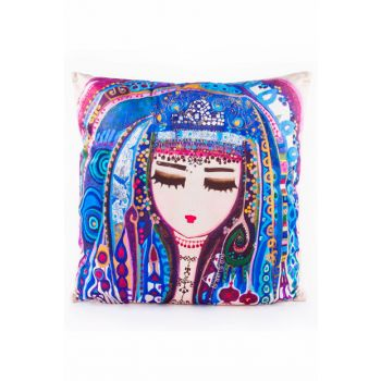 Blue Water Pillow by Canan Berber BGD101970402