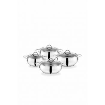 Cookhaus 8 Pieces Steel Cookware Set 13159