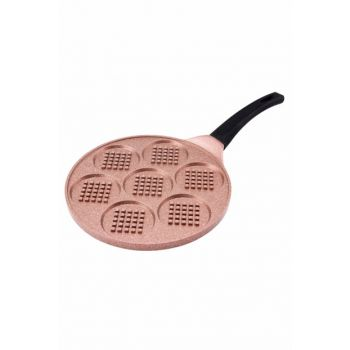 Smile 26cm Waffle Frying Pan Coffee EMS136