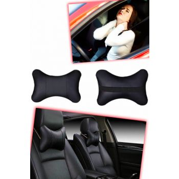Leather Car Neck Pillow