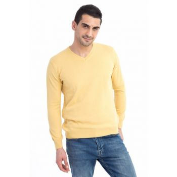 Men's Yellow-0 Pullover - 54523 54523