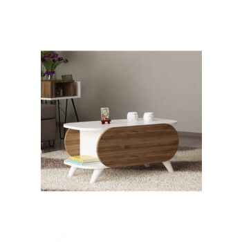 Orchid Medium Coffee Table White-Walnut 8681506224408