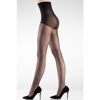 Black Womens Stone Cat Pantyhose Stockings 2154 2154