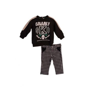 Small Boys Children Sweat + Pants BLACK 9-12 Months 82Z1HCL71