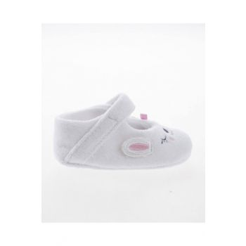 White Baby Girl Booties SBFKNPTK1245_00-0001