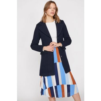 Women's Navy Blue Coat 9KAK06616EW 9KAK06616EW