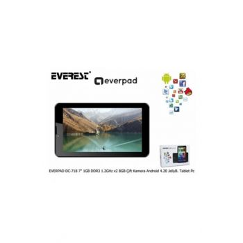 Everest Everpad Dc-718 1Gb Ddr3 1.5Ghz X4 Core 8Gb 7 0.3-2.0Mp Dual Camera Distribiter White 35615