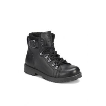 Black Unisex Children's Leather Boots SARDONE LEATHER