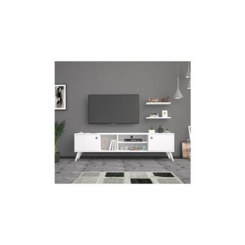Bena Furniture Benan White 180 Cm Tv Stand Tv Unit BENA180B