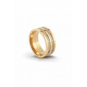 Women's Gold Steel Ring LVR328B