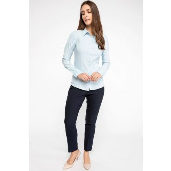 Women's Basic Long Sleeve Shirt I5278AZ.18AU.BE174