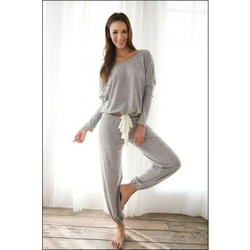 Women's Gray Tracksuit Pajamas Suit 1306019