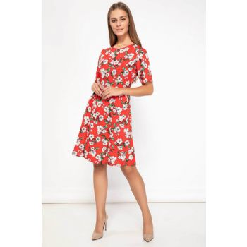 Women's Floral Pattern Dress J8599AZ.18AU.RD275