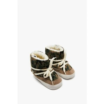Green Baby Boy Camouflage Patterned Boots 9KMB22078AA