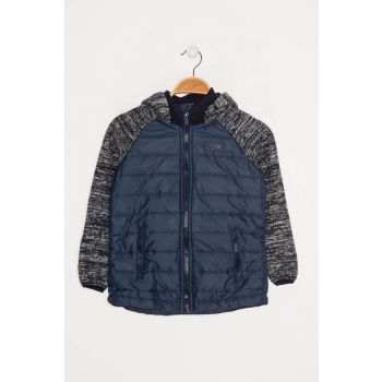 Navy Blue Unisex Kids Coats 940013