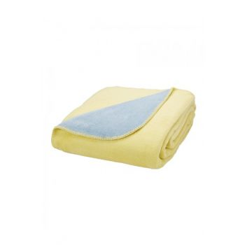 Double Doria Double Sided Double Sided Yellow Cotton Blanket 200.11.01.0204