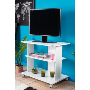 Super Multimedia TV Stand Bright White TVC-01-PB-1