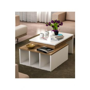 Kolerado Coffee Table White - Walnut 8681506222657