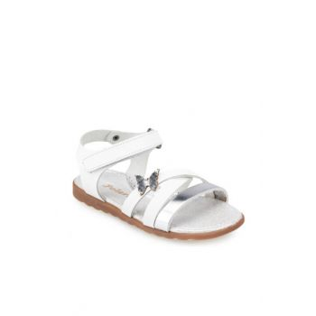 White Girl Leather Sandals 000000000100368561
