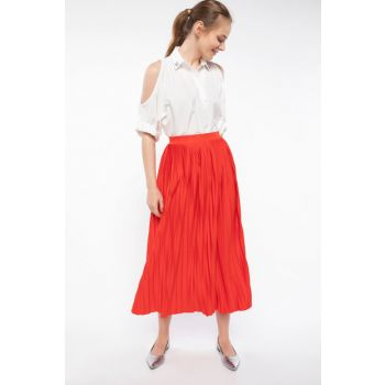 Women's Pleated Skirt J6234AZ.18HS.RD275